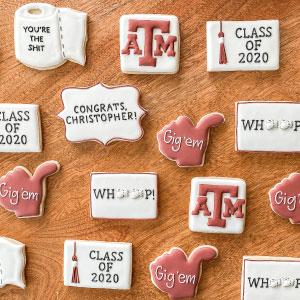 A&M Graduation Cookies